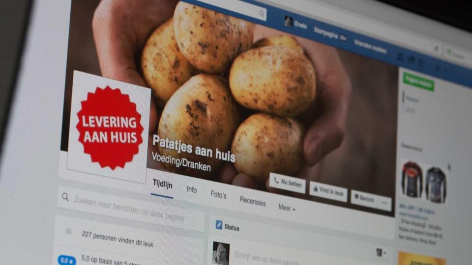 Facebook, sociale media, thuisverkoop, klanten, aardappelen