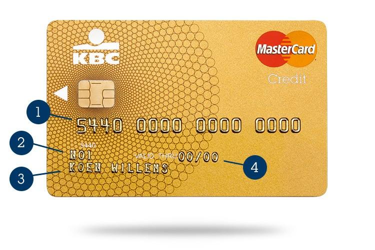 Kaartnummer kredietkaart